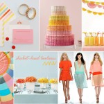 sherbet bright wedding