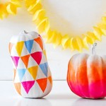 stylish ombre painted pumpkin DIY