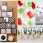 modern diy advent calendar