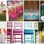 colorful wedding chairs