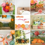 california orange inspired wedding